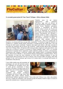MariTè – Più Culture – Tam Tam d'Afrique